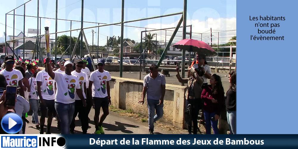 Départ de la Flamme des Jeux de Bambous
